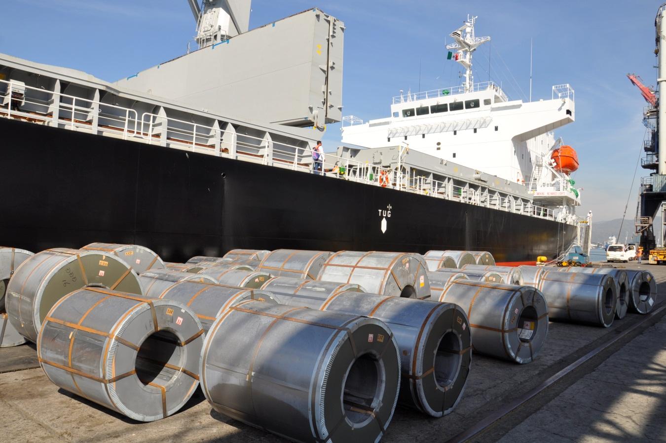 Rollos de acero barco