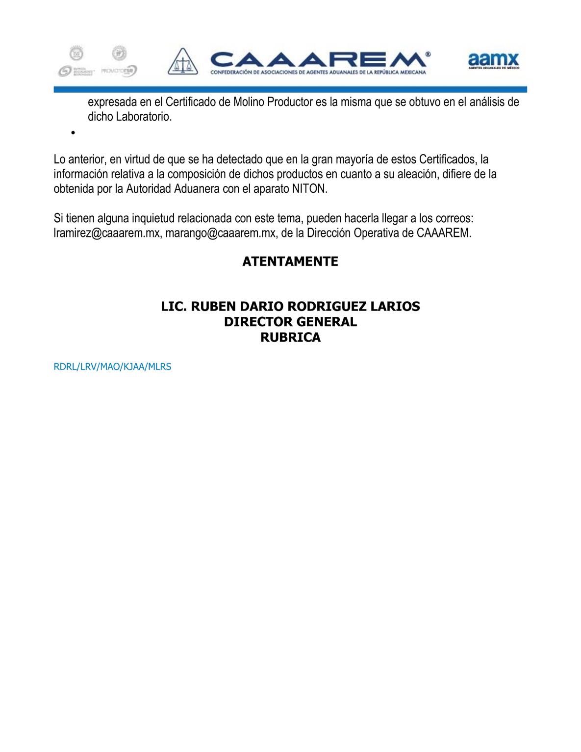 Circular T-0183-2015 Criterios a considerar en la Importación de acero P2