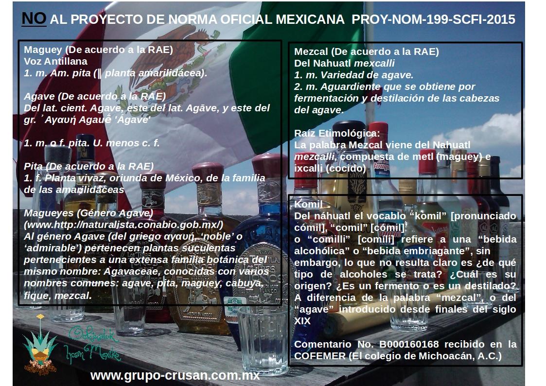 NO AL PROYECTO DE NORMA OFICIAL MEXICANA  PROY-NOM-199-SCFI-2015